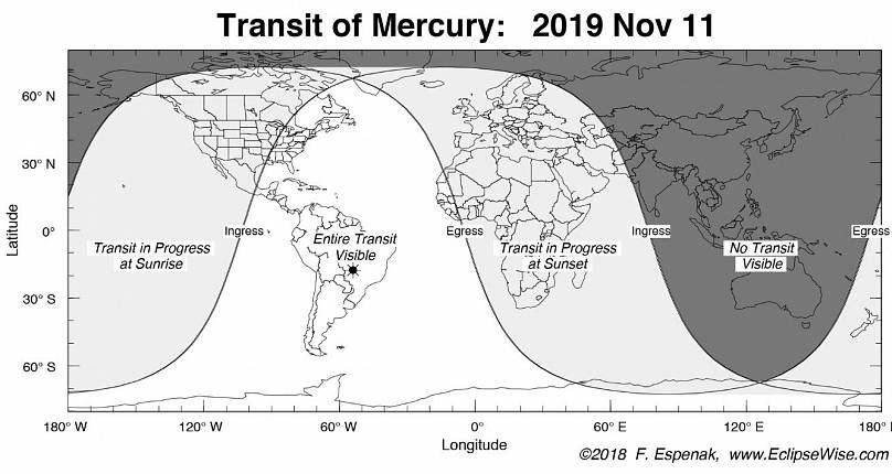 Excitement as Mercury passes in front of Sun today, Monday, November 11