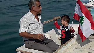 Libanons Fischer protestieren auf See