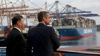 Ο Πρόεδρος της Λαϊκής Δημοκρατίας της Κίνας Σι Τζινπίνγκ και ο πρωθυπουργός Κυριάκος Μητσοτάκης