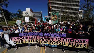 Youth Climate sztrájk Los Angeles-ben november 1-én