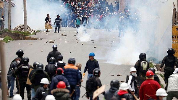 ادامه درگیری ها در بولیوی برغم استعفای مورالس