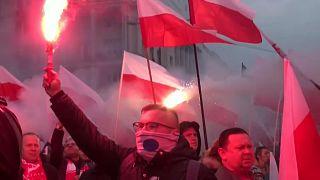 La ultraderecha saca músculo en Varsovia