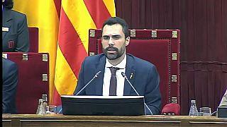 El parlamento catalán aprueba una moción de autodeterminación