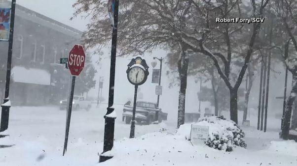 Kemény tél az Egyesült Államokban