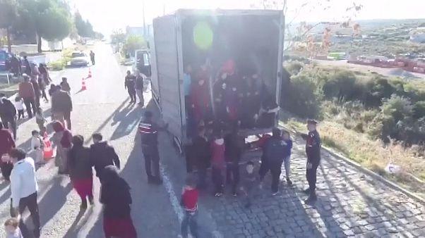 82 афганца в грузовике