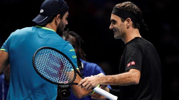 ATP Finals: Berrettini battuto da Federer