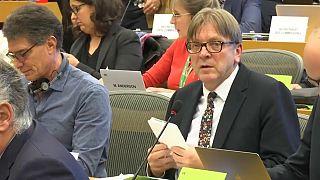 Verhofstadt was updating MEPs on Brexit