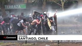 شیلی همچنان ناآرام و ملتهب؛ تظاهرات دهها هزار نفری در سانتیاگو