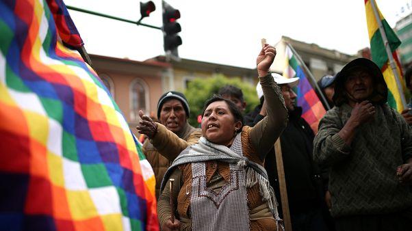 Evo Morales destekçileri, La Paz, Bolivya