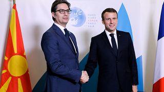 Συνάντηση πρόεδρων Γαλλίας - Βόρειας Μακεδονίας