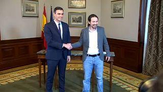 Ισπανία: Προκαταρκτική συμφωνία Σάντσεθ-Ποδέμος