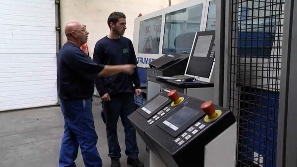 Produção industrial aumenta na zona euro