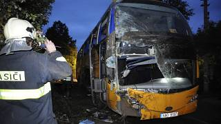 Slovakian bus crash kills at least 13 and injures many more