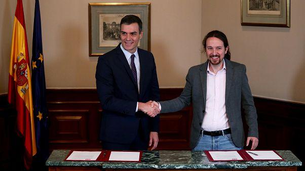 Análisis | ¿Qué se esconde tras el apretón de manos entre Pedro Sánchez y Pablo Iglesias?