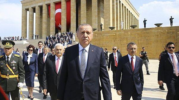 Recep Tayyip Erdoğan'ın Anıtkabir ziyareti
