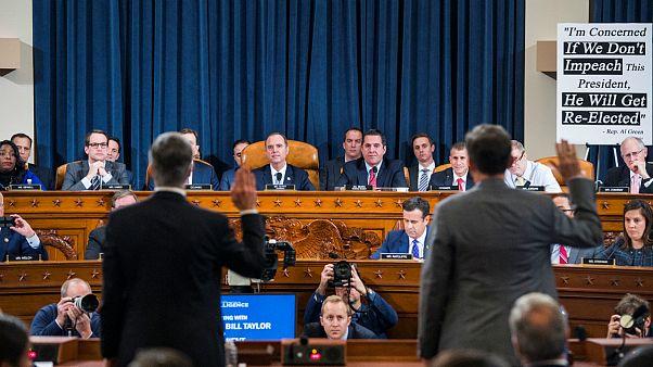 تحقیقات برای استیضاح ترامپ؛ آغاز جلسات علنی استماع شاهدان در کنگره