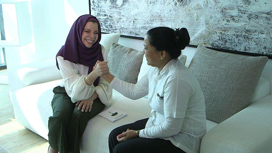 Lebanese filmmaker Abir Kazbour reenacts a memorable moment with her flatmate of Indian origin
