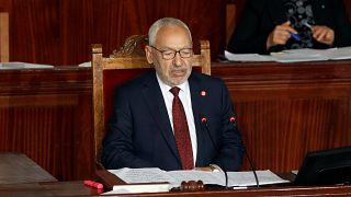انتخاب رئيس حزب النهصة راشد الغنوشي رئيسا للبرلمان في تونس