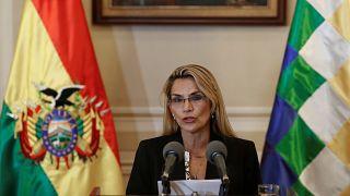 La senadora opositoria Jeanine Áñez, presidenta interina de Bolivia