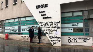 Le siège du CROUS à Lyon, devant lequel s'est immolé un étudiant le 8 novembre