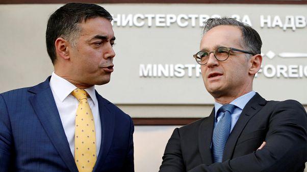 Außenminister Heiko Maas und sein mazedonischer Amtskollege Nikola Dimitrov