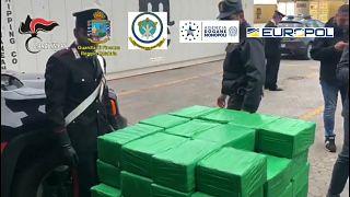 Cocaina per più di una tonnellata sequestrata a Gioia Tauro