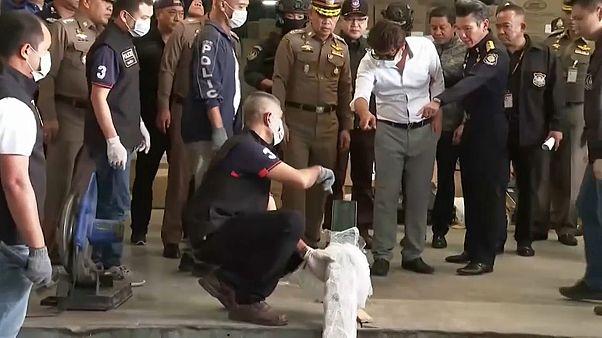 شاهد: تايلاند تحبط تهريب 176 كيلوغراماً من مخدر الميثامفيتامين إلى اليابان