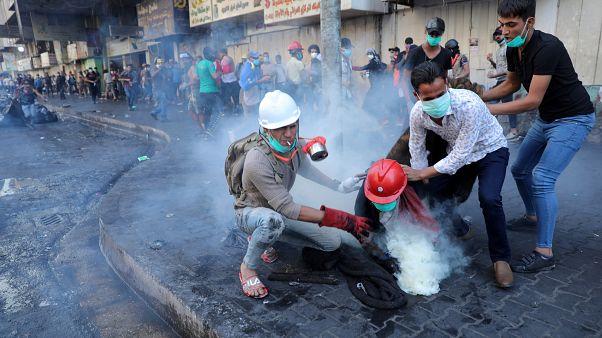 مصادر طبية: أربعة قتلى على الأقل وإصابة العشرات في مظاهرات ببغداد