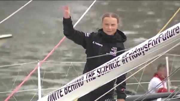 Elindult az óceánon át Európába Greta Thunberg