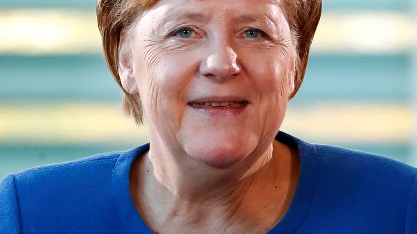German Chancellor Angela Merkel attends the national integration prize awarding ceremony at the Chancellery in Berlin