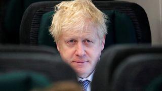 Boris Johnson se dirige a un mitin de campaña este jueves 14 de noviembre