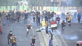 Протесты и столкновения в Багдаде