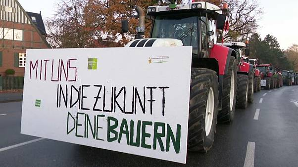 3.500 Traktoren: Landwirte demonstrieren im Konvoi in Hamburg