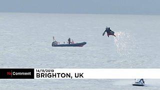 """137 km/h: """"Jet-Suit""""-Pilot pulverisiert eigenen Geschwindigkeitsrekord"""