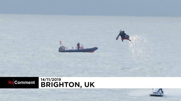 یک بریتانیایی رکورد سرعت با جتپک را شکست