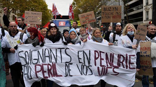 Marea blanca en París: los hospitales públicos franceses se declaran bajo mínimos