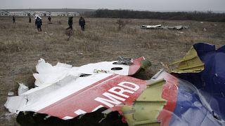 2014'te düşen Malezya Havayolları'na ait uçağın enkazı