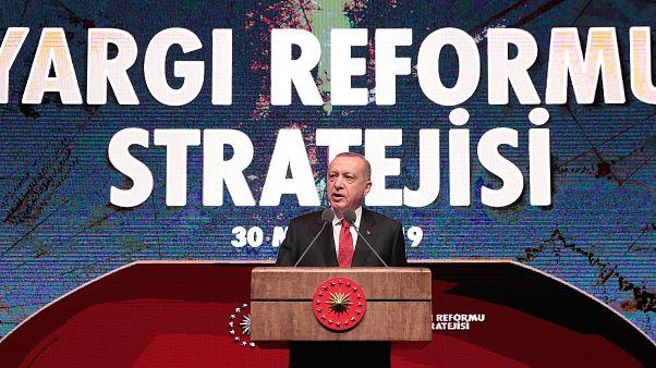 Cumhurbaşkanı Erdoğan yargı reformu stratejisini açıkladı