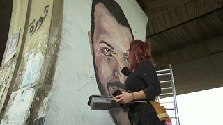 Au Liban, des portraits fleurissent en hommage au manifestant abattu