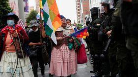 مساع لتهدئة الأوضاع في بوليفيا والرئيسة ترفض إمكانية ترشح موراليس للانتخابات