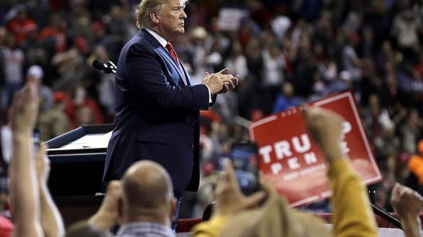 ABD Başkanı Donald Trump Louisina mitinginde