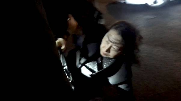 Teresa Cheng was seen falling to the ground in the video