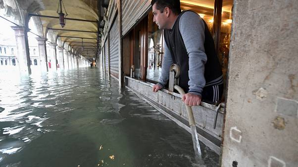 Watch: Nearly three-quarters of Venice underwater after another high tide