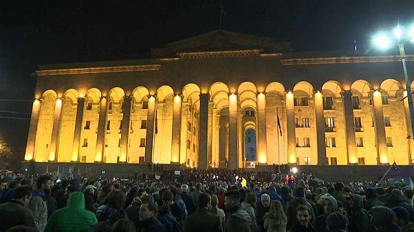 Protestas en Georgia por la ley electoral