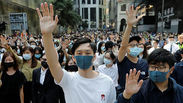 متظاهرون في هونغ كونغ- أرشيف رويترز