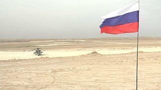 عکس از ویدئو مربوط به پایگاه جدید روسیه در شمال سوریه گرفته شده است