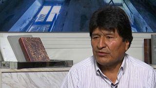 Evo Morales im Interview.