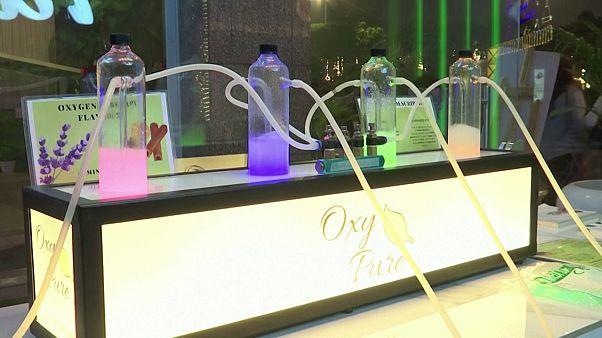 Oxigén bár Új-Delhiben