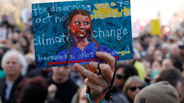 İsveçli iklim aktisti Greta Thunberg Kanada'da Küresel İklim Grevi Haftası etkinliklerine katıldı.