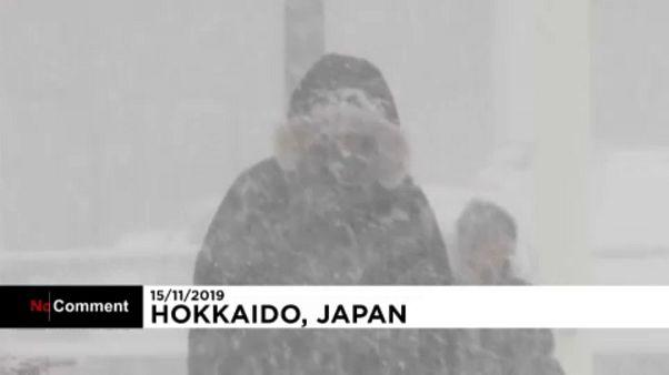 Χιόνια στη Βόρεια Ιαπωνία